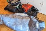Schlafsäcke und Rucksäcke