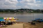 Pier für das Boot nach Laos
