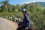 Daniel mit Motorrad