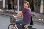 Marsi auf dem Fahrrad