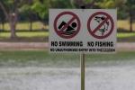 Schwimmen und angeln