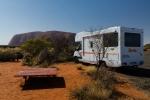 Erster Blick auf den Uluru