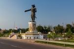 Statue am Mekong