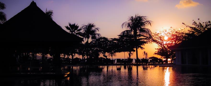 Sonnenuntergang in Jimbaran