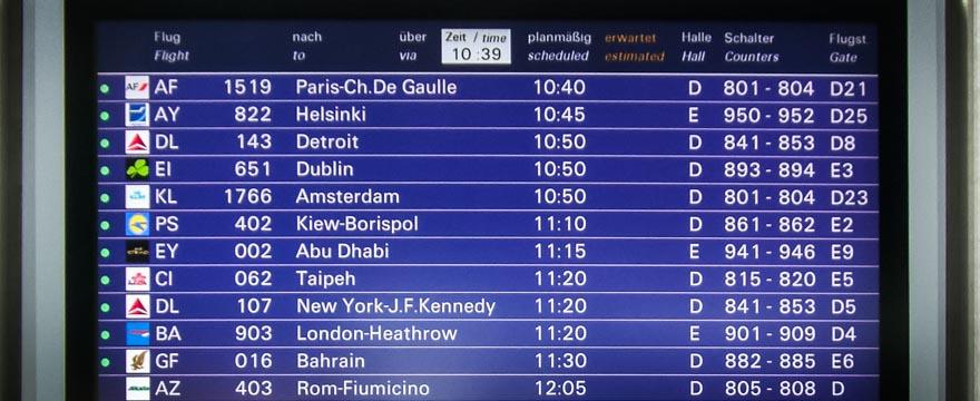 Info Tafel Flughafen