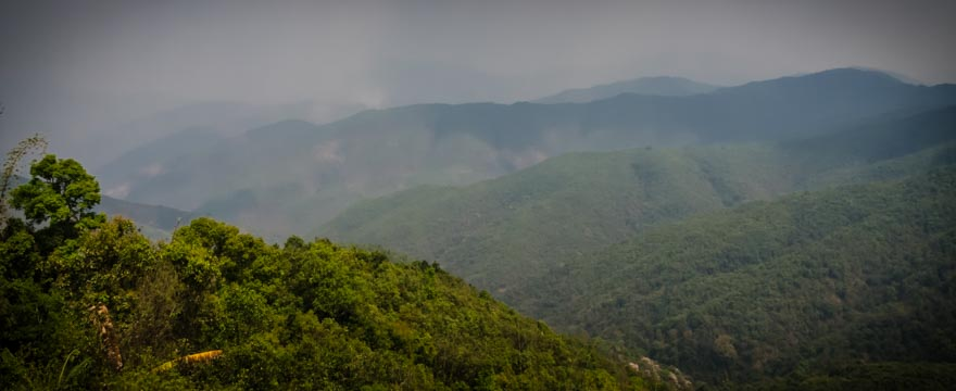 Berglandschaft in Laos