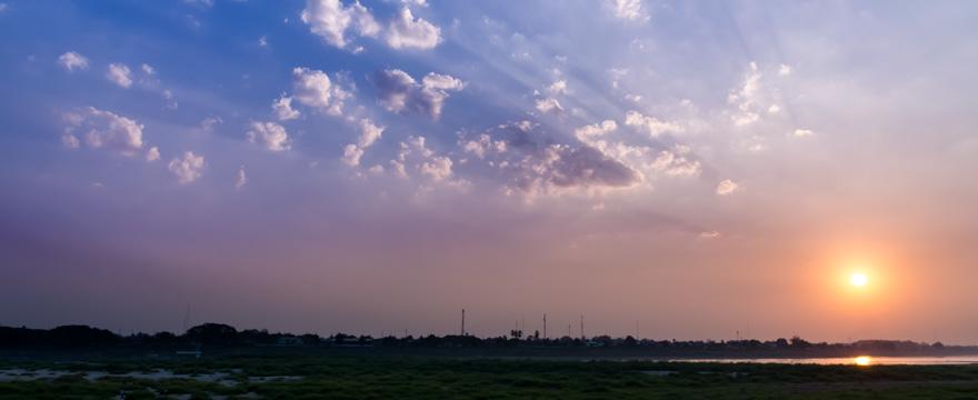 Sonnenuntergang Südhalbkugel